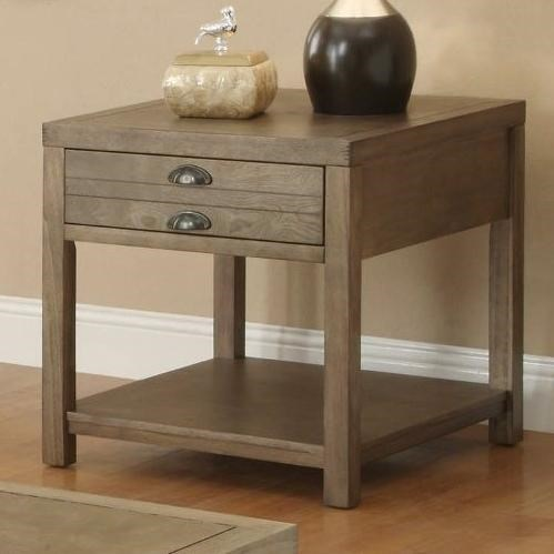 Coaster occasional group cottage end table with one drawer for Occasional table with drawers