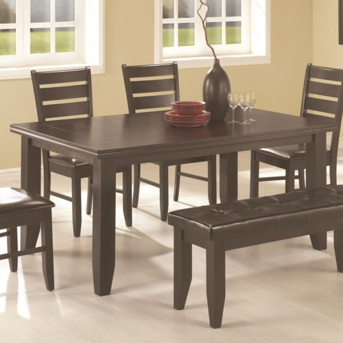 Coaster page contemporary rectangular semi formal dining for Casual formal dining room