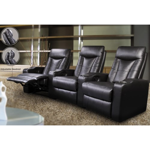 Coaster pavillion contemporary leather theater seating rife 39 s home furniture theater seating Home theater furniture amazon