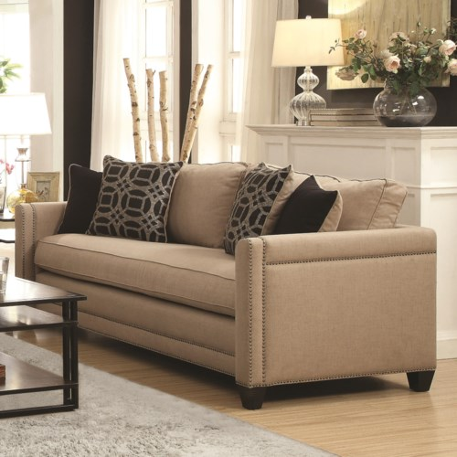 coaster pratten sofa with transitional style coaster fine furniture. Black Bedroom Furniture Sets. Home Design Ideas