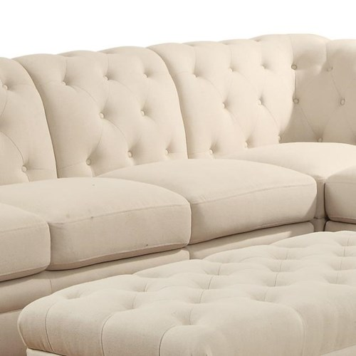Coaster roy armless chair coaster fine furniture for Roy button tufted sectional sofa with armless chair