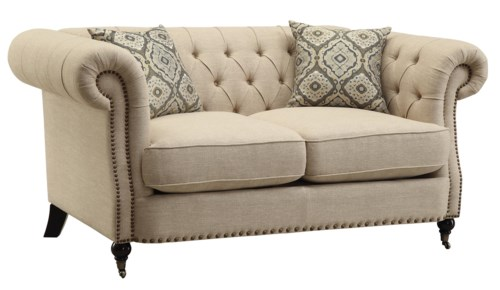 Coaster Trivellato Traditional Button Tufted Loveseat With