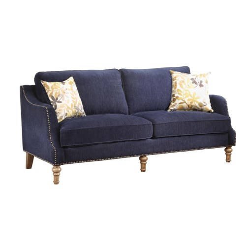 Coaster vessot transitional sofa with nailhead studs and for Sofa with studs