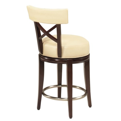 Counter Height Chairs With Backs : Designmaster Dining Stools Callaway X Back Swivel Counter Height ...