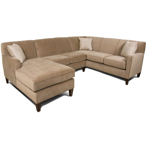 England collegedale contemporary 3 piece sectional sofa for Chaise wayne