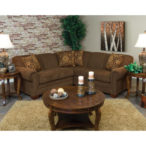England Monroe Four Seat Corner Sectional Vandrie Home Furnishings Sofa Sectional Cadillac