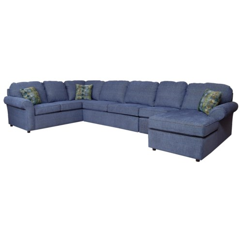 England malibu 6 7 seat right side chaise sectional sofa for 6 seat sectional sofa
