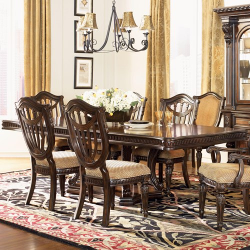 Fairmont designs grand estates double pedestal dining table royal furniture dining room for Fairmont designs grand estates bedroom