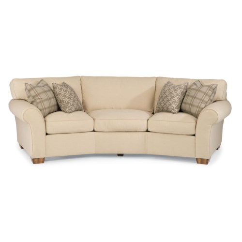 Flexsteel vail 107 vail conversation sofa mueller for Conversation sofa