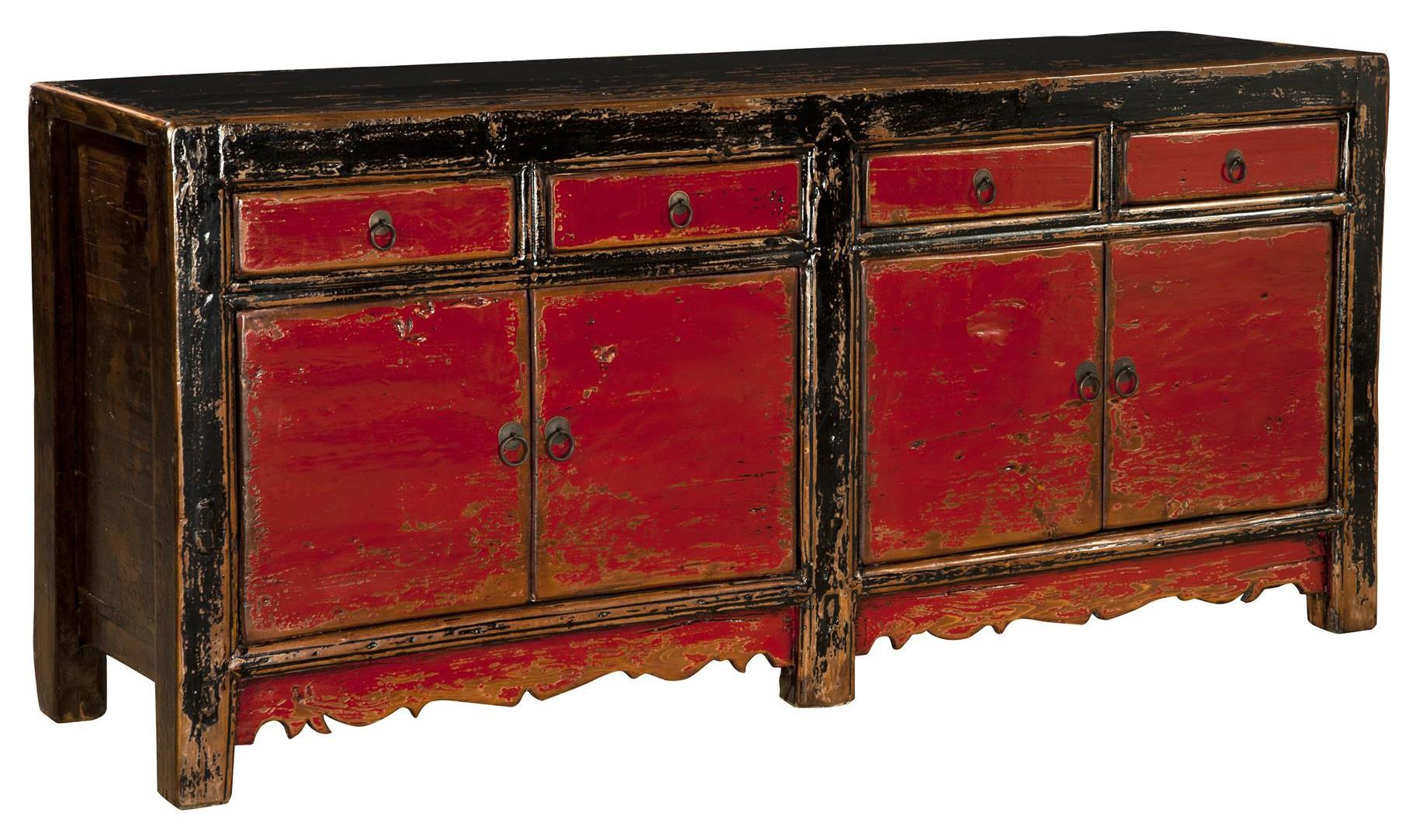Black And Red Distressed Furniture Home Design 2017