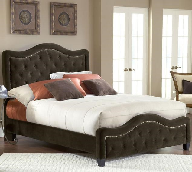 Upholstered Beds Queen Trieste Fabric Bed w Nailhead