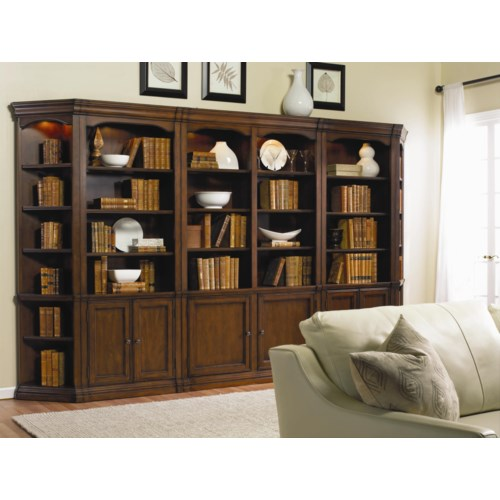 Hooker furniture cherry creek modular wall system baer 39 s furniture bookcase 2 pc with - Home office furniture west palm beach ...