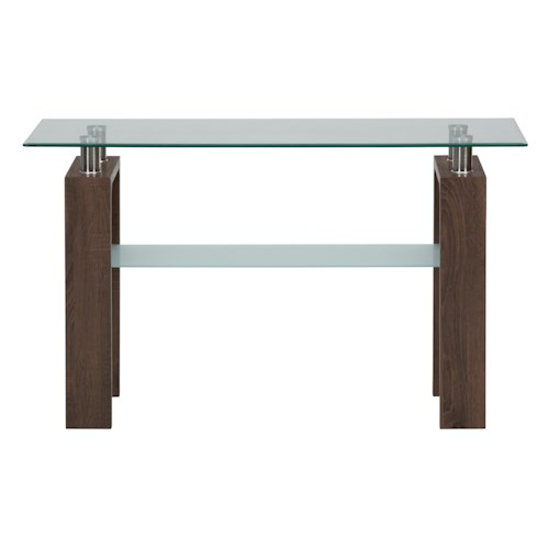 Jofran compass sofa table with glass top jofran for Sofa table glass replacement