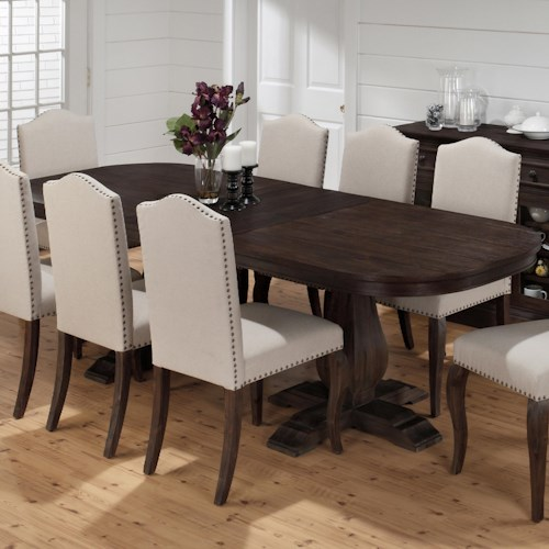 jofran grand terrace traditional styled dining table with butterfly leaf jofran. Black Bedroom Furniture Sets. Home Design Ideas
