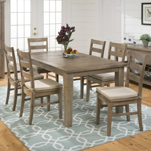 Dining Set Includes Table And 4 Chairs Old Brick Furniture Dining