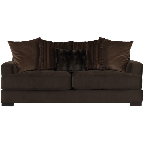Jonathan Louis Carlin Sofa With Loose Back Pillows Olinde 39 S Furniture Sofa