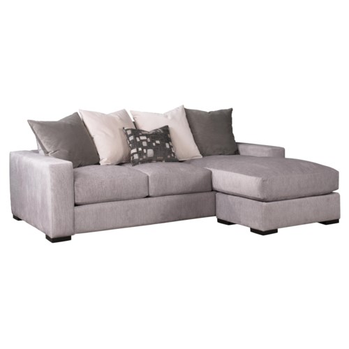 Jonathan Louis Lombardy Contemporary Sofa W Reversible Chaise Olinde 39 S Furniture Sofa