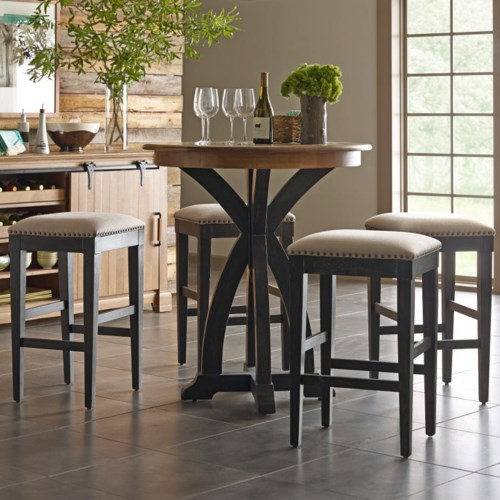 Stone ridge 5 pc bistro table and bar stool set Home bar furniture amazon