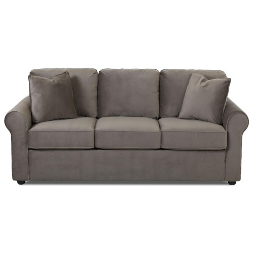 Simple Elegance Silva Casual Sofa With Rolled Arms Gardiner Wolf Furniture Sofa Baltimore