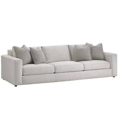 Lexington laurel canyon bellevue wide sofa becker for Sofa couch bellevue