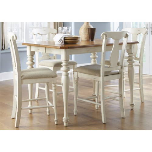 Counter Height Gathering Table Sets : ... Set Liberty Furniture Ocean Isle 5-Piece Gathering Height Dining Set