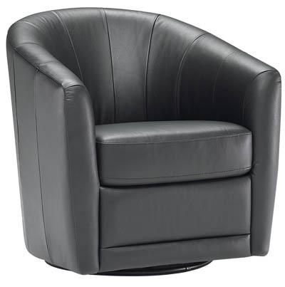 Natuzzi Editions B596 Contemporary Swivel Barrel Chair