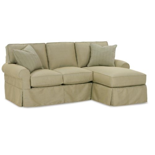 Rowe nantucket slipcover sofa with chaise hudson39s for Slipcovers for sectional sofa with chaise
