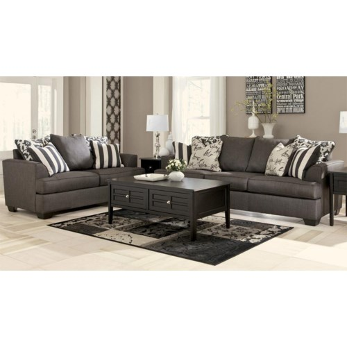 Signature Design By Ashley Central Park Sofa Loveseat Set Rotmans Upholstery Group