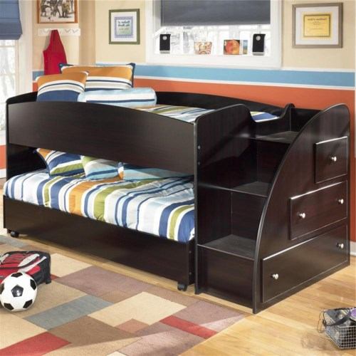 68 Best Images About Loft Beds On Pinterest: Signature Design By Ashley Embrace Twin Loft Bed With