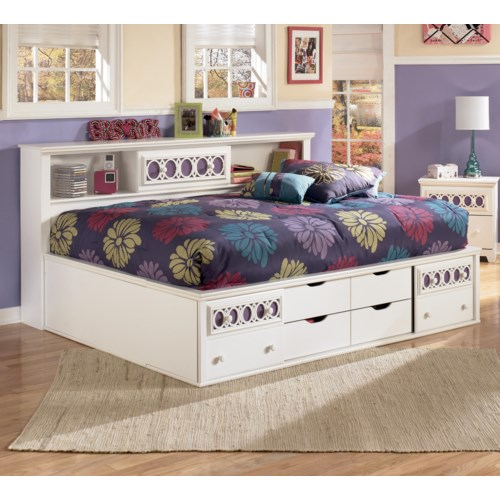 Signature Design By Ashley Zoey Full Storage Daybed