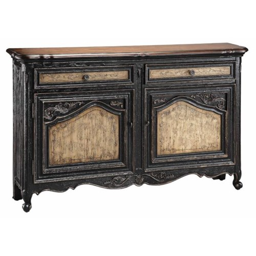 Stein world cabinets narrow sideboard w 2 doors and for Narrow dining room cabinet