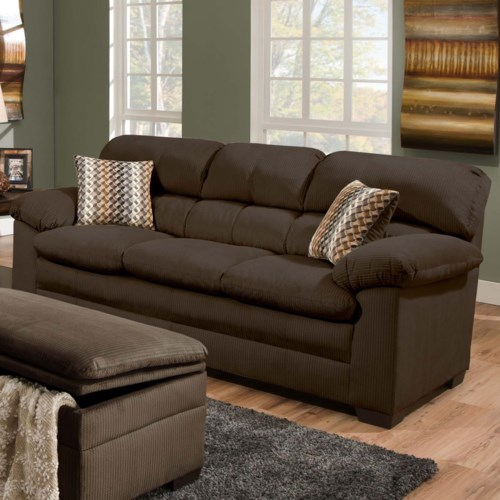 United Furniture Industries 3685 Casual Sofa With Pillow