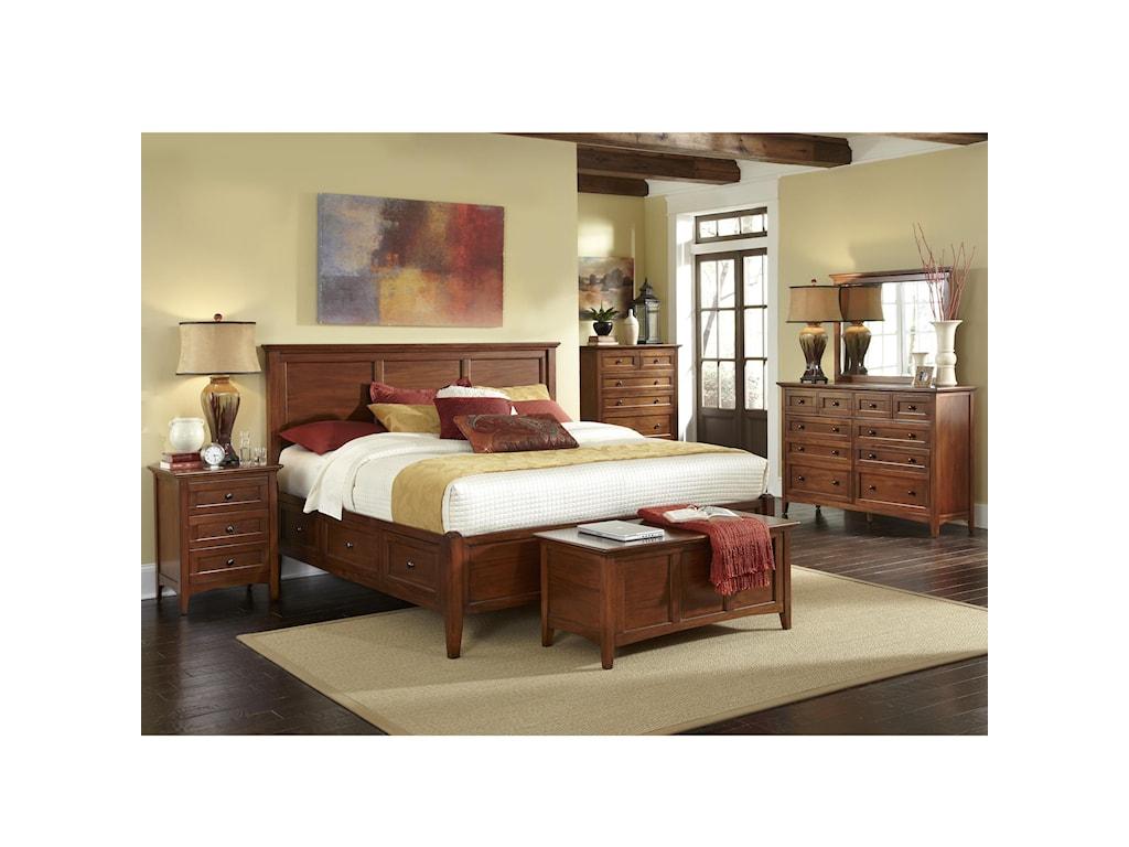 AAmerica WestlakeKing Storage Bedroom Group