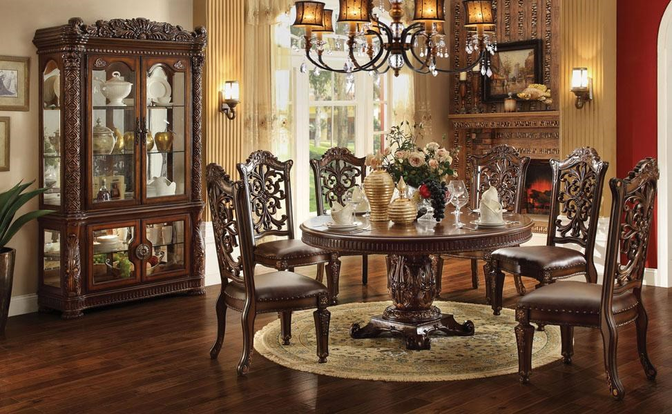 acme furniture vendome dining room group nassau furniture formal rh nassaufurnitureonline com round formal dining room table for 10