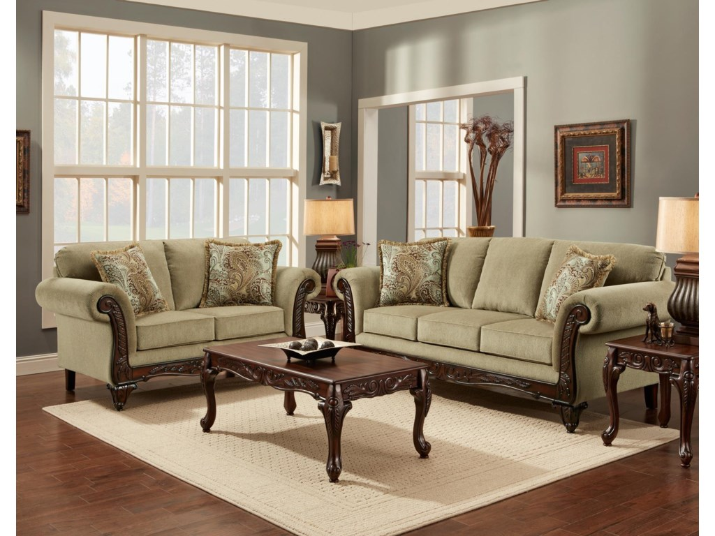 Affordable Furniture 8500Stationary Living Room Group