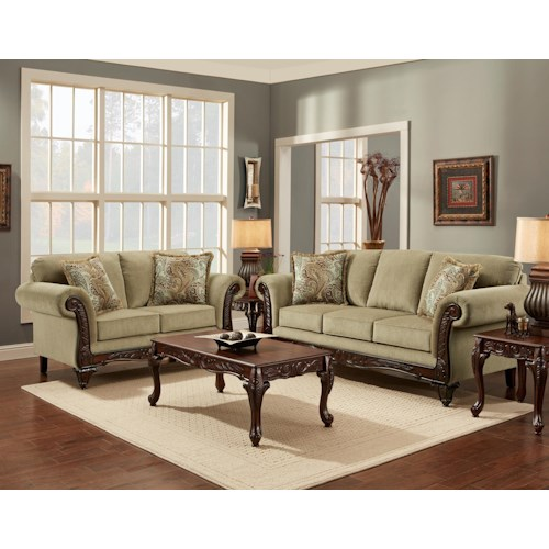 Affordable Furniture 8500 Stationary Living Room Group