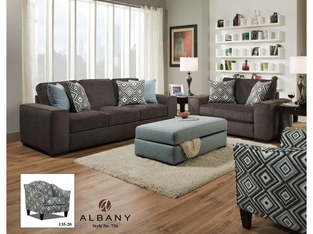 Albany 734Stationary Living Room Group