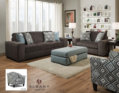 Albany 734 Stationary Living Room Group