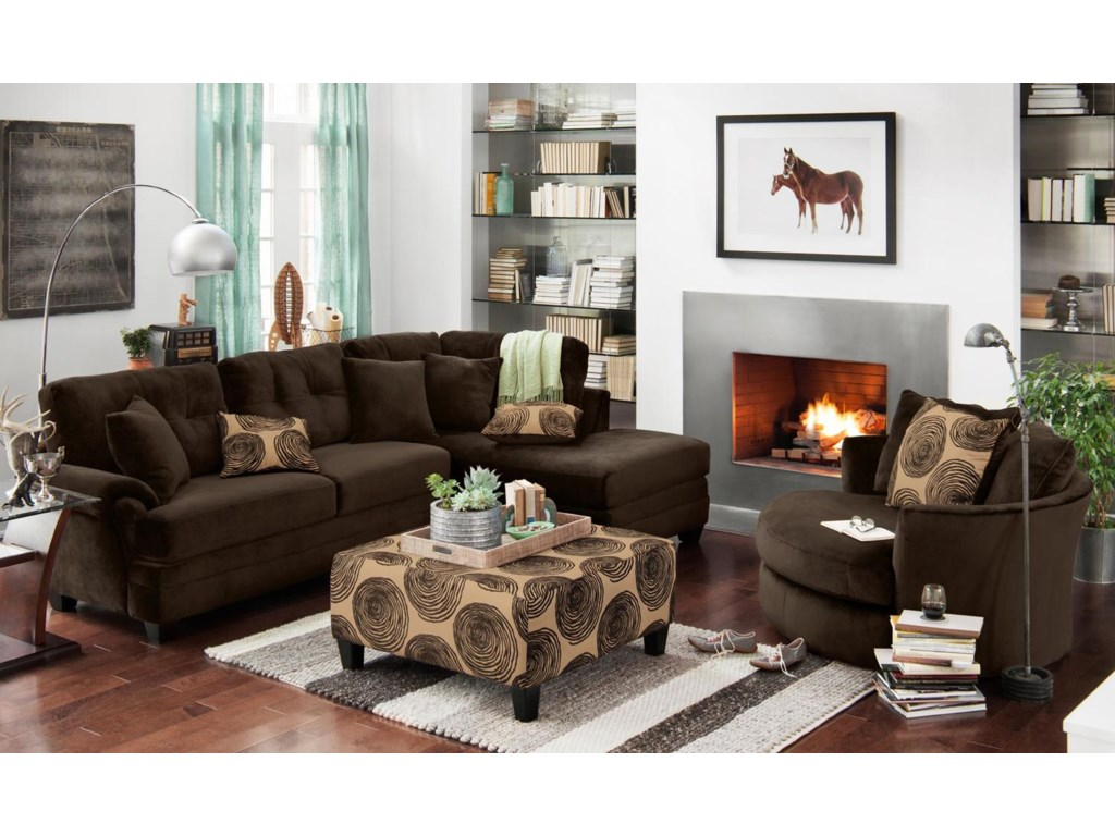 Albany 8632Stationary Living Room Group