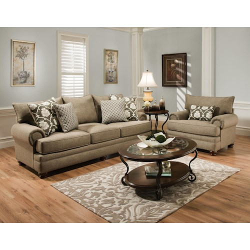 Albany 8645 Stationary Living Room Group