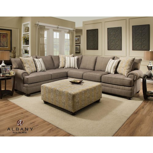 Albany 8645 Stationary Living Room Group J J Furniture Upholstery Group Mobile Daphne