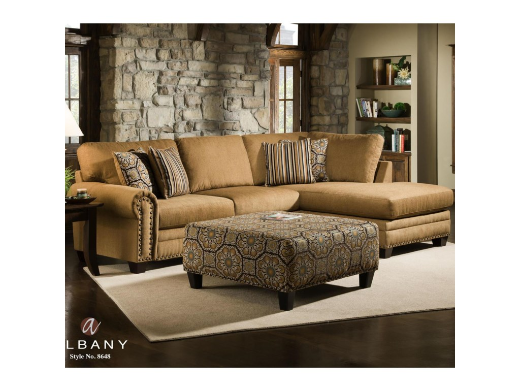 Albany 8648 CollectionCasual Stationary Living Room Group