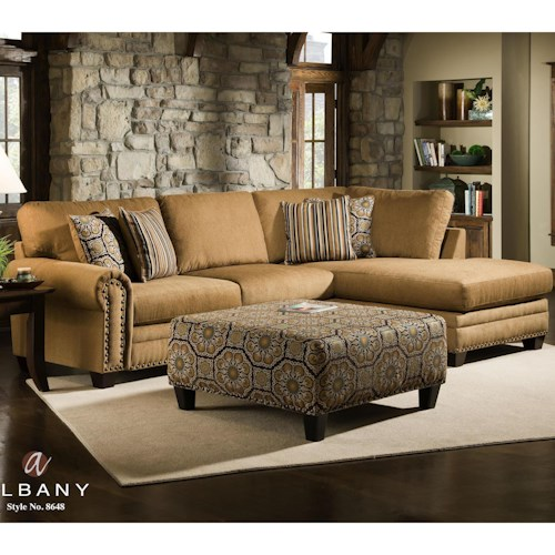 Albany 8648 Collection Casual Stationary Living Room Group