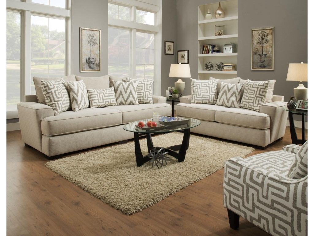 Albany 8686Stationary Living Room Group