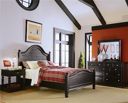 American Drew Camden - Dark King Bedroom Group
