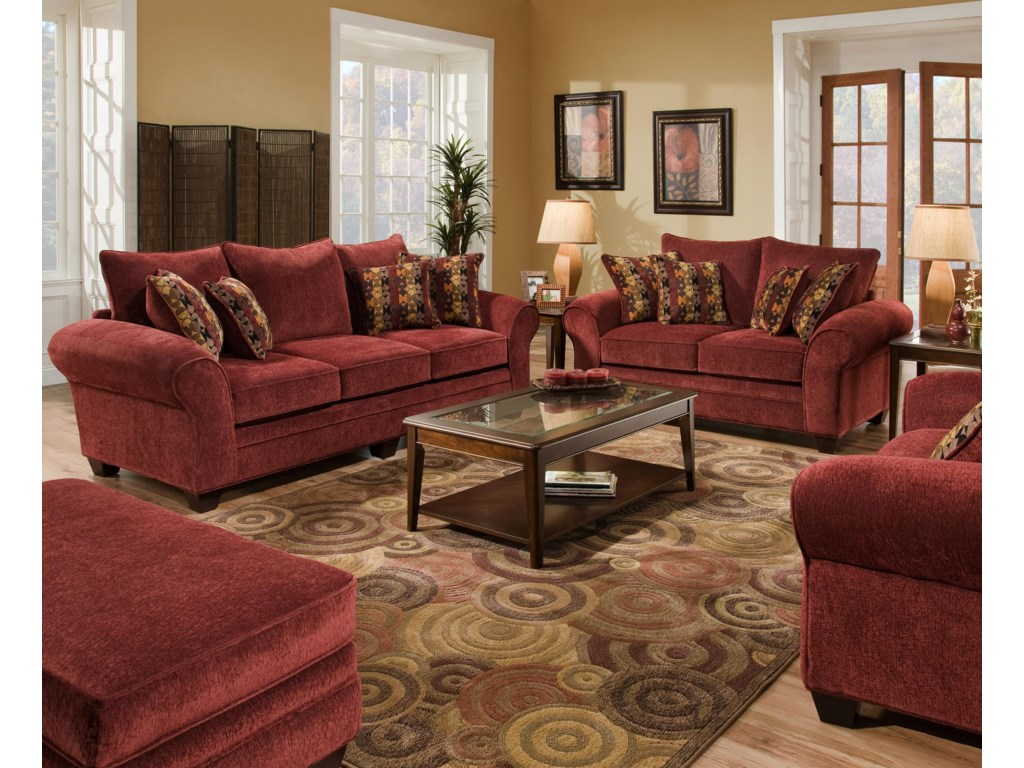 American Furniture 3700Stationary Living Room Group