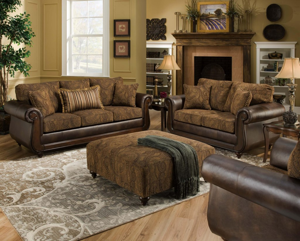 American Furniture 5850 Stationary Living Room Group Miskelly