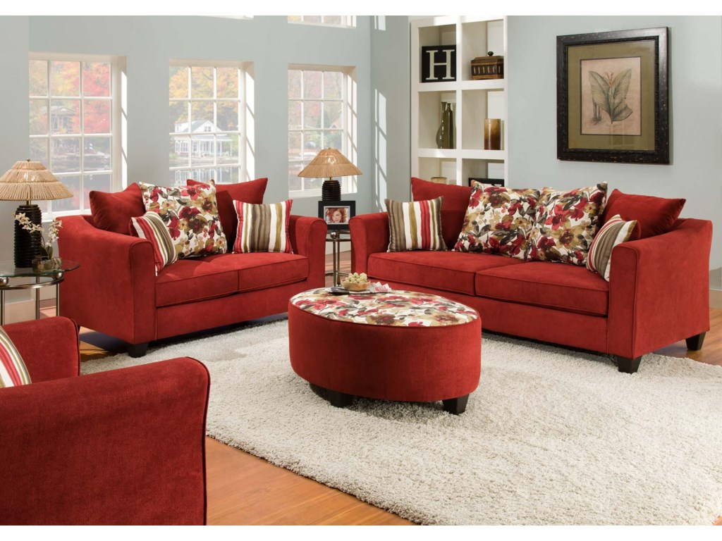 American Furniture 6300 Stationary Living Room Group