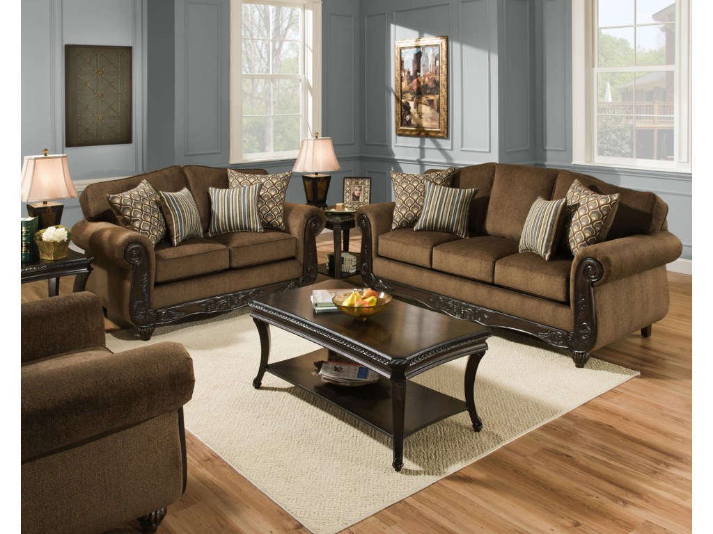 American Furniture 6700Stationary Living Room Group