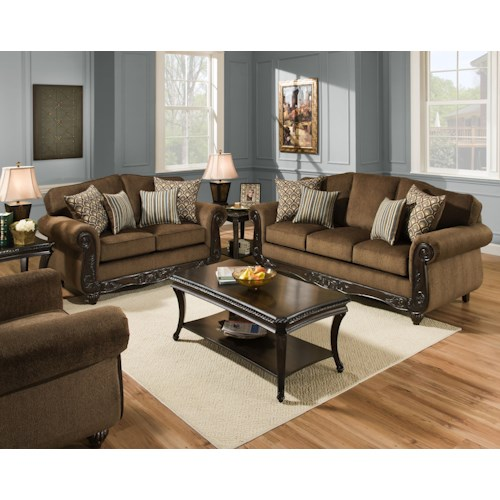 Stationary Living Room Group 6700 By American Furniture Wilcox